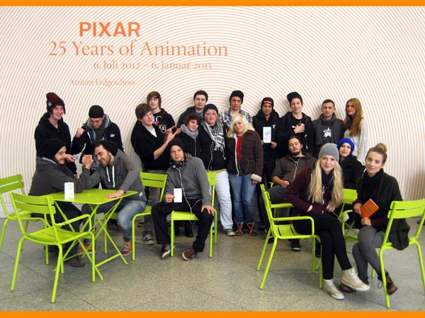 AS3M2, 20.12.2012: Besuch der Ausstellung PIXAR – 25 Years of Animation