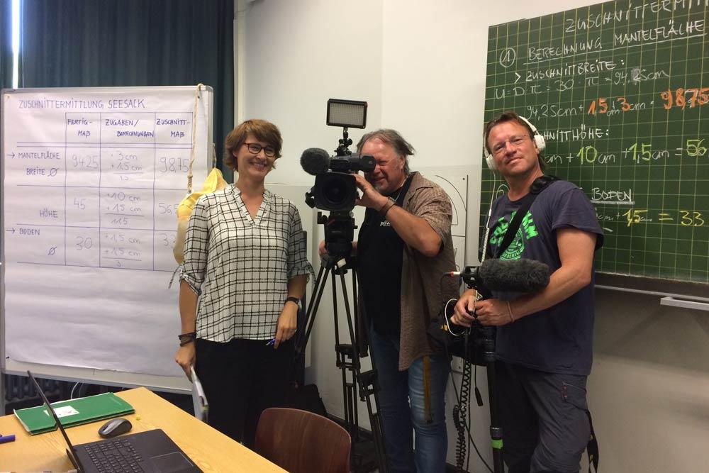 """Filmteam der ARD für die ARD alpha - Reihe """"Ich machs"""""""