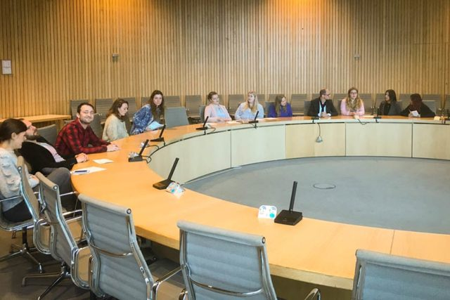 Nachtrag April 2018: Die FOS 13-1 im Landtag Düsseldorf