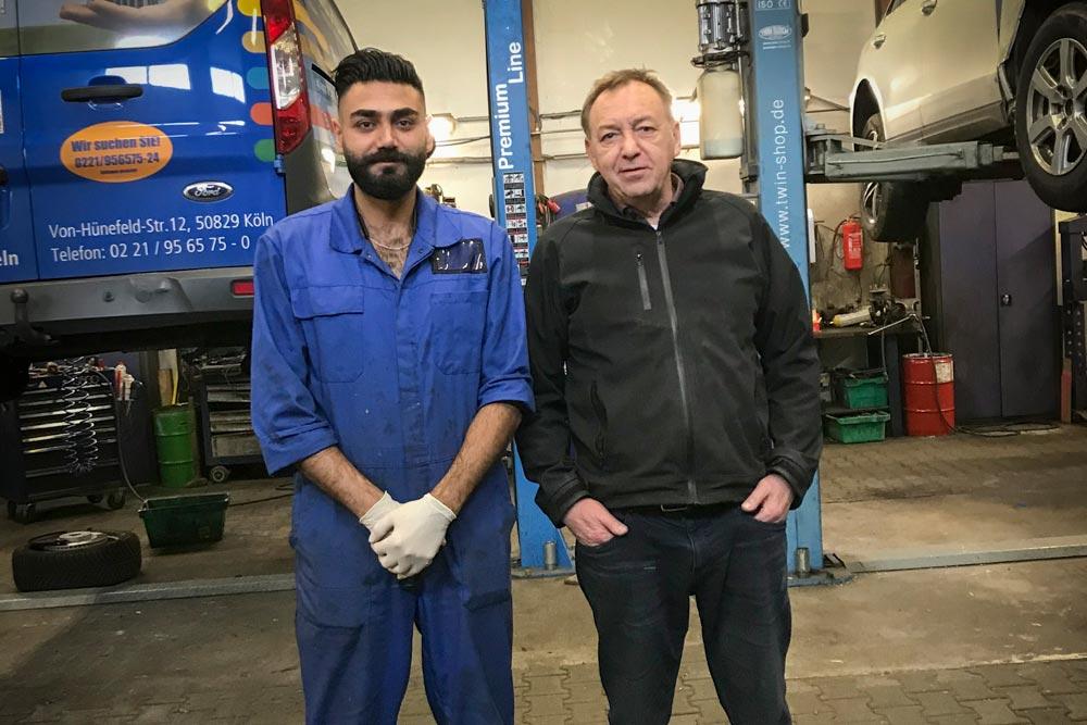 Rozhyar Peroz und sein Mentor Andreas Weber