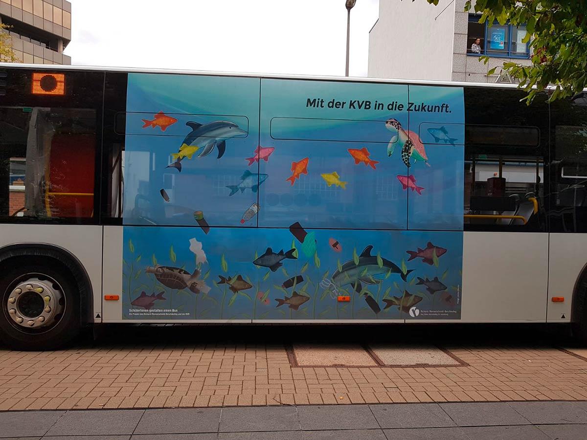 GTAs gestalten Klima-Bus der KVB