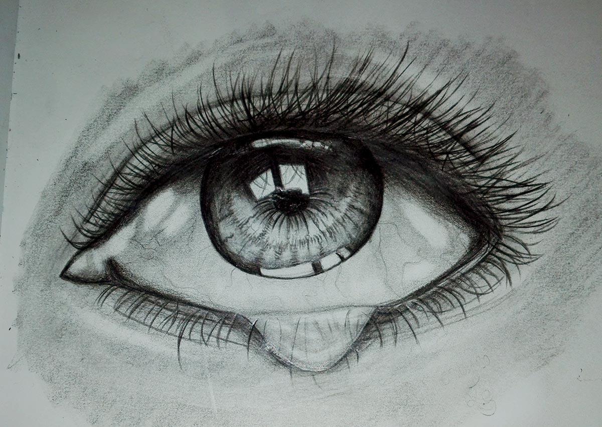 Zeichnung: Auge